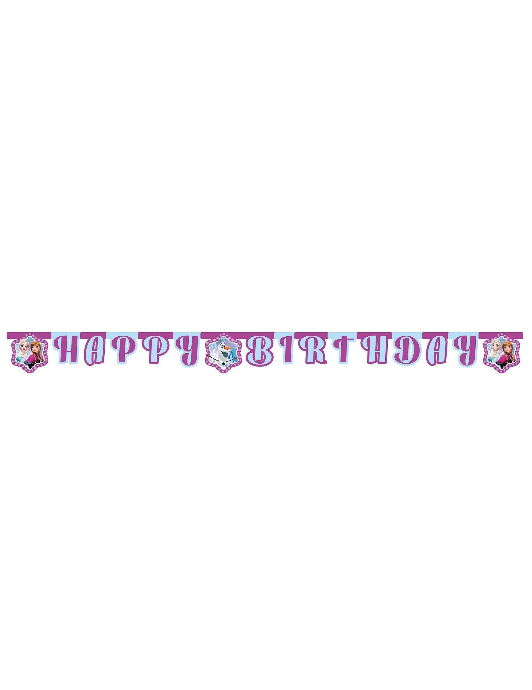 Guirlande Happy Birthday La Reine Des Neiges 2 10 M