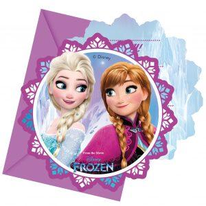 carte invitation reine des neiges
