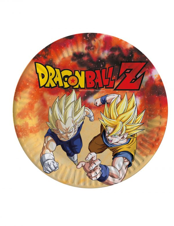 Assiettes en carton Dragon Ball Z