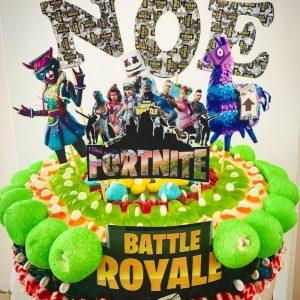 Gâteau d'anniversaire bonbons Fortnite