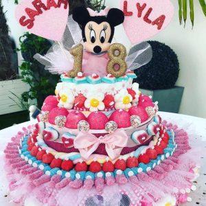 Gâteau d'anniversaire bonbons Minie