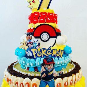 Gâteau d'anniversaire bonbons Pokemon