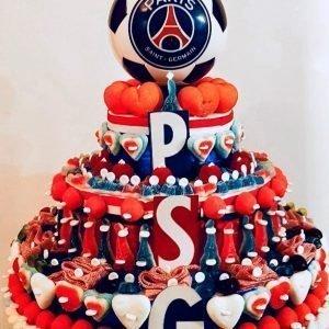 Gâteau d'anniversaire bonbons PSG